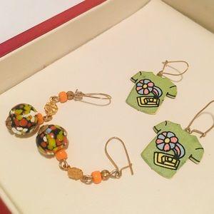 Vintage 1970s Earrings - Set of 2